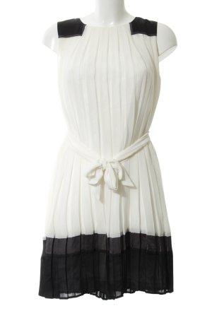 Deby Debo Kurzarmkleid creme-schwarz Elegant