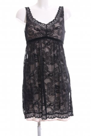 Deby Debo Spitzenkleid schwarz Blumenmuster Elegant