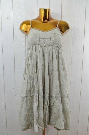 DEEDAY Kleid Trägerkleid Baumwolle Sommer Doppellagig Grau-Grün Träger Gr.36 Neu