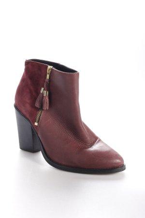Deena & Ozzy Ankle Boots bordeauxrot Dekoelemente