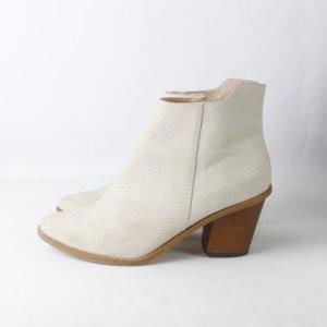 Deena & Ozzy Ankle Boots Gr. 38 hellbeige Schlangenmuster (19/03/199)