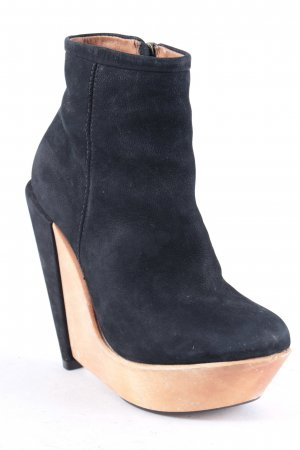 Deena & Ozzy Keil-Stiefeletten schwarz-hellbraun Elegant
