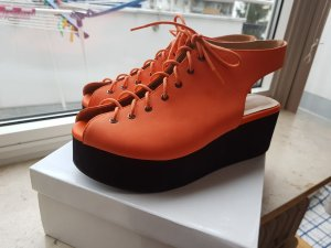 Deena & Ozzy orangene Plateauschuhe Größe 41 Urban Outfitters Orange Hipster Sandalen Blogger
