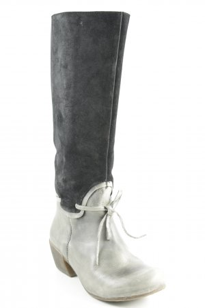 Deerberg Absatz Stiefel schwarz-graugrün Casual-Look