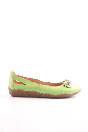 033fcb20d3de1 Deerberg faltbare Ballerinas grün Casual-Look