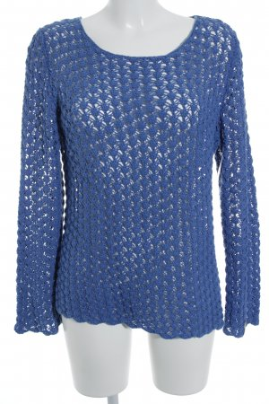 Deerberg Pull à gosses mailles bleu acier Motif de tissage style simple