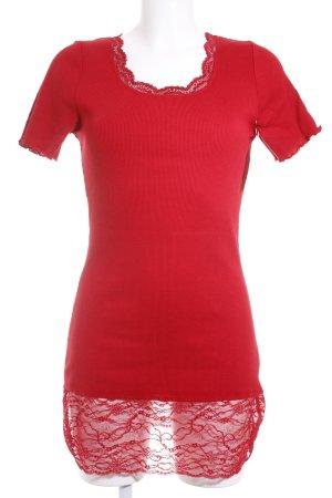 Deerberg Longshirt rot klassischer Stil