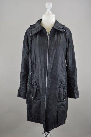 Deerberg Mantel mit Reißverschluss und Raffungen an Ärmeln und Taschen schwarz Größe 42
