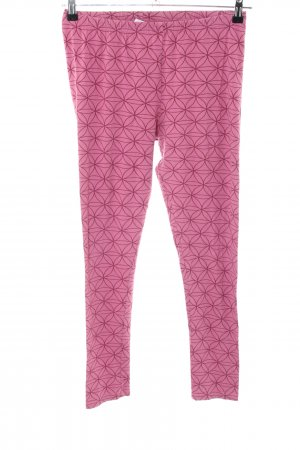 Deerberg Stretch Trousers pink-brown allover print casual look