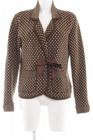 Deerberg Knitted Blazer brown-natural white spot pattern elegant