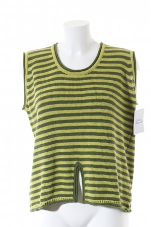 Deerberg Knitted Jumper green-lime-green striped pattern college style