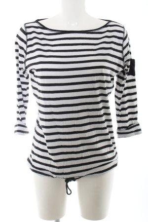 DeeWhy Longsleeve weiß-schwarz Streifenmuster Casual-Look