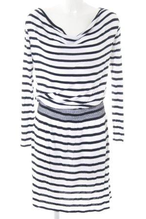 DeeWhy Schlauchkleid weiß-schwarz Streifenmuster Casual-Look