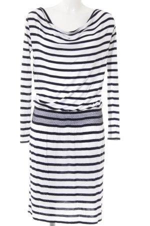DeeWhy Robe tube blanc-noir motif rayé style décontracté
