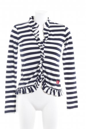 DeeWhy Knitted Vest dark blue-natural white striped pattern casual look