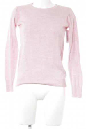 Defacto Strickpullover rosa-wollweiß meliert Casual-Look