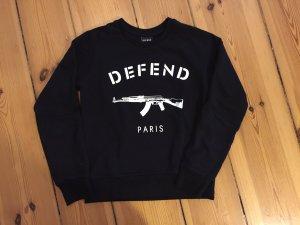 Defend Paris Sweater schwarz in Größe M