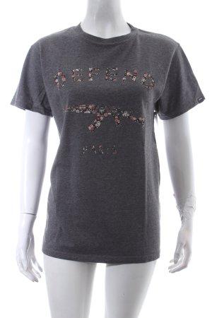 Defend T-shirt grijs gestippeld stedelijke stijl