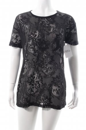 Defend T-Shirt schwarz Schriftzug gedruckt Casual-Look