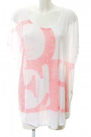 Deha Oversized Shirt white-neon pink printed lettering casual look