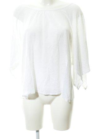Deha Camisa tejida blanco moteado estilo sencillo