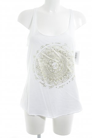 Deha Tank Top white-gold-colored themed print casual look