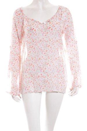 Deichgraf Langarm-Bluse florales Muster Romantik-Look