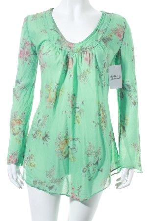Deichgraf Longsleeve hellgrün Blumenmuster Romantik-Look