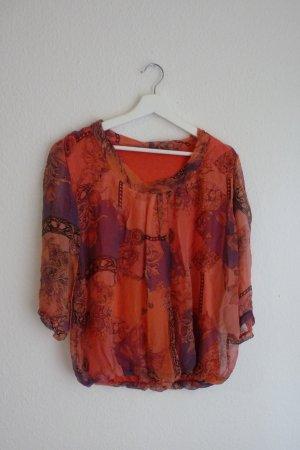 Deichgraf Shirt Oberteil 3/4 arm L XL 42 44 *NEU* Blumen Print Fashion Blogger