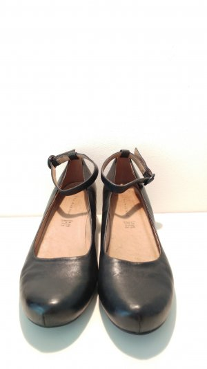 Deichmann 5th Avenue Leder Wedges Pumps schwarz Gr 40 fast NEU