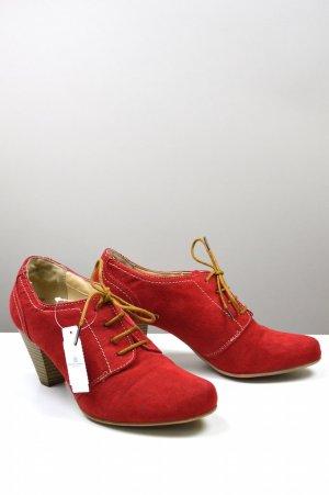 Deichmann Anke Boots Wildlederoptik rot Größe 38