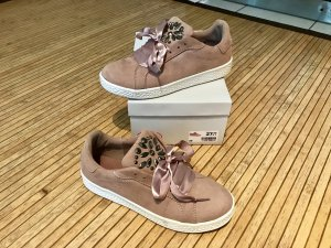 Deichmann Graceland Sneaker Turnschuhe 39 rosa Glitzer neuwertig Satin