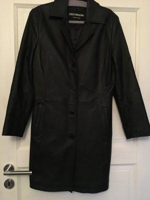 Deichmann Manteau en cuir noir