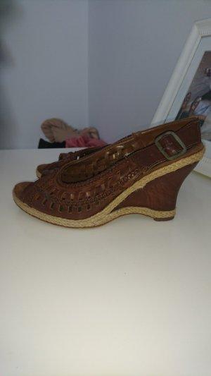 deichmann sandale braun 37 keilsandale