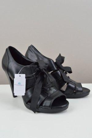 Deichmann Sandaletten mit Riemen und Schleife schwarz Größe 39