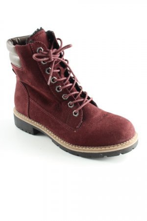 Deichmann Lace-up Boots bordeaux-grey brown casual look