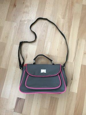 Deichmann Seitentasche grau pink Umhängetasche neu mit Etikett
