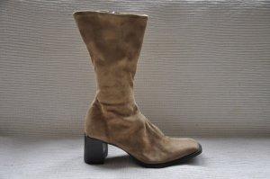 deichmann stiefel beige wildlederoptik gr. 38 ariane