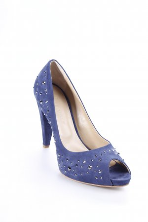 Deimille Peeptoe Pumps dunkelblau Business-Look