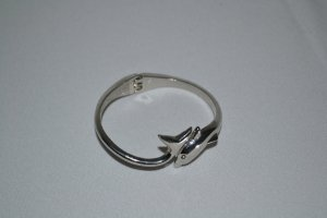 Delfin Armband Silber wie neu Gr XS/S