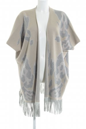 Delicate Love Poncho beige-light grey spots-of-color pattern casual look