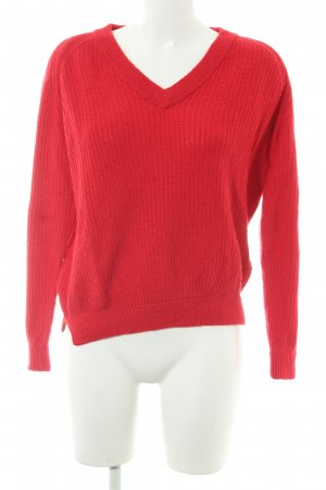 Delicate Love Strickpullover rot Casual-Look