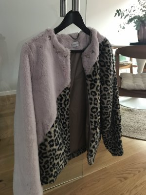 Delicate Love Fake Fur Jacket multicolored