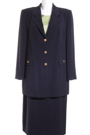 Delmod Anzug dunkelblau-goldfarben Business-Look