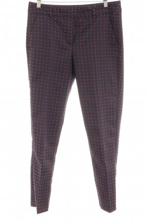 Delmod Bundfaltenhose grafisches Muster Business-Look