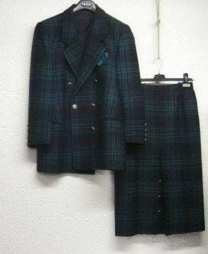 Delmod Glencheck Winter Kostüm Blazer und Rock