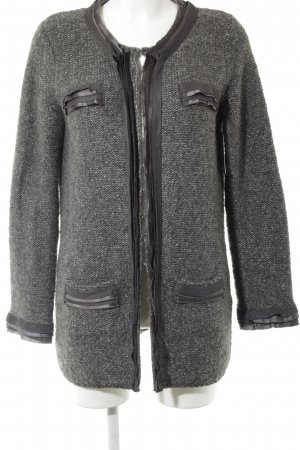 Delmod Coarse Knitted Jacket grey-silver-colored casual look