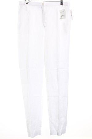 Delmod High-Waist Hose weiß schlichter Stil