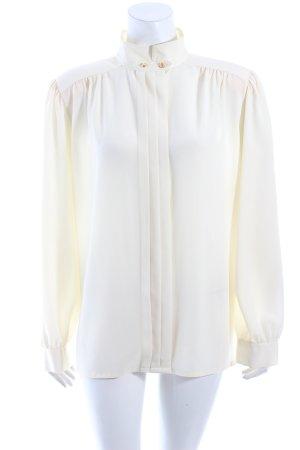 Delmod Langarm-Bluse creme Vintage-Look