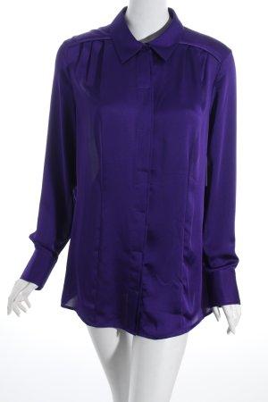 Delmod Langarm-Bluse dunkelviolett schlichter Stil